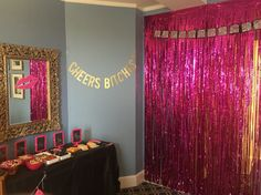 Photo backdrop at the #BacheloretteParty