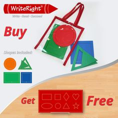 Gift time at Write Right.  Purchase the Geometric Shapes in a Bag and receive the complimentary Write Right Shape Board absolutely free.  21% Saving – Offer limited until 31 December 2014