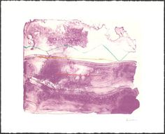 Lilac Sweep, 2006 Print by Helen Frankenthaler at Universal Limited Art Editions (ULAE)