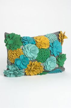 'bloom burst' pillow :: oh, the colors!