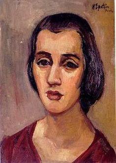 Henri (Chaim) Epstein was born in Lodz, Poland (1891-1944) ~ Young Woman ~ oil on canvas, 46x33 cm.