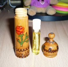 Chandelier Makeover, Cosmetics & Perfume, My Childhood Memories, Vintage Perfume, Made Of Wood, Perfume Bottles, The Incredibles, Cool Stuff, Inspiration