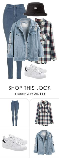 """Day6 inspired summer outfit // Dowoon"" by berrie95 on Polyvore featuring Topshop, Relaxfeel, adidas Originals, Stussy, day6 and Dowoon"