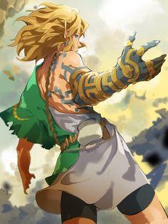 The Legend Of Zelda, Legend Of Zelda Breath, Fantasy Character Design, Character Art, Poses Manga, Link Botw, Zelda Drawing, Image Zelda, Botw Zelda