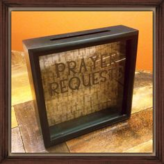 A place to keep all your prayer requests or for youth groups or bible studies to place prayer requests. Great for church office or pastor