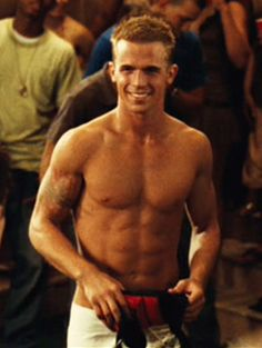 Tats. Nice bod. Perfect teeth/smile. Great eyes. -Never Back Down.Cam Gigandet.    WANT!!!