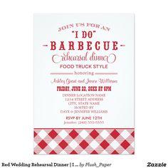 Red Wedding Rehearsal Dinner | I Do BBQ