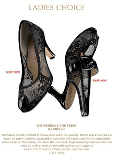 "#Ladies Choice: #ANYI LU ""Pamela"" and ""Tessa"" in black lace, available at #ArthurBeren #Shoes. #Resort2013 #Holiday2013"