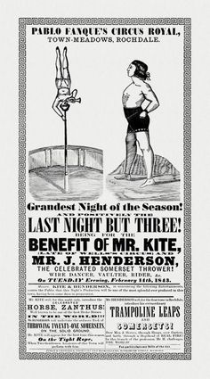 "Poster that inspired John Lennon to write ""Being for the Benefit of Mr. Kite."""