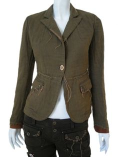 Norio Nakanishi's Jacket with one button, pockets with flap, embroidery with studs and strings back at a price of $463.00 from dressspace.com