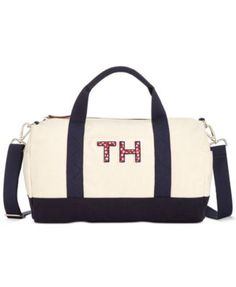 TOMMY HILFIGER Tommy Hilfiger Pam Large Duffle. #tommyhilfiger #bags #shoulder bags #hand bags #canvas #