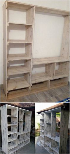30 Amazing Ideas to Convert Old Wood Pallets into Something Useful: Very few know the fact that wood pallet has been tremendous taken as one of the best alternatives in order to add up the. Building Furniture, Furniture Plans, Furniture Making, Diy Furniture, Pallet Crafts, Pallet Projects, Woodworking Projects, Pallet Kitchen Island, Pallet Closet