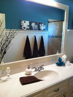 Love the beadboard with the small ledge -- not necessarily for the bathroom, though