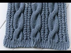 How To Knit A Cable Scarf In Less Than 17 Minutes? | Video Tutorial Hub