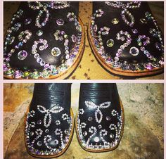 Super easy glitzy boots! All you need is some E6000 & some rhinestones or stones & Wallllah!