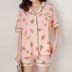815f2c6a9d96 YesStyle - Endormi Pajama Set  Printed Short-Sleeve Shirt + Shorts -  AdoreWe.com