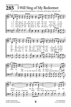 Baptist Hymnal 2008 I will sing of my Redeemer Bible Songs, Praise Songs, Worship Songs, Christian Songs, Christian Life, Christian Quotes, Gospel Music, Music Songs, Music Videos