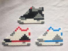 Nike Air Jordan 3 Perler Hama Bead Sprite Neckalce by Craftians