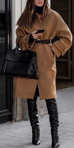 Trendy Coat 2019 Fashion women's beautiful and casual fall & winter coats,make you fashion, keep your warmth. Free ship… i Trendy Coat 2019 Fashion women's beautiful and casual fall & winter coats,make you fashion, keep your warmth. Camel Coat Outfit, Brown Outfit, Moda Outfits, Winter Outfits, Dress Winter, Cute Casual Outfits, Winter Coats Women, Coats For Women, Winter Jackets