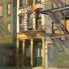 Soho Shadows II by Francis Livingston; Arcadia Fine Arts. via Carol Schepko