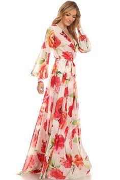 Meesh Wrap Maxi Dress - Tulip - ShopLuckyDuck  - 1