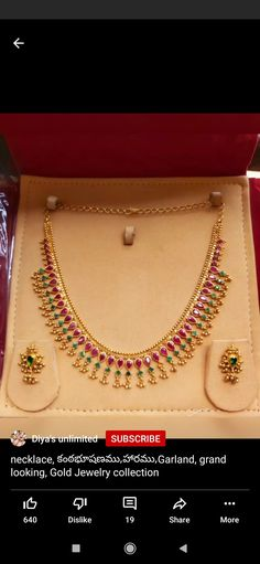 Ruby Necklace Designs, Jewelry Design Earrings, Gold Bangles Design, Gold Jewellery Design, Gold Jewelry Simple, Gold Necklace, Blouse, Wedding, Valentines Day Weddings