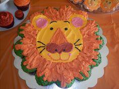 lion birthday cake note: change nostril shape to half circle or something.
