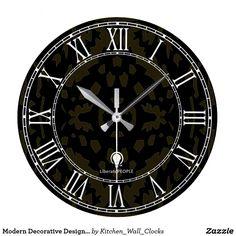 Modern Decorative Designer#1 Wall Clock Buy Online https://www.zazzle.com/kitchen_wall_clocks/products?rf=238136051362953437