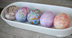 How to dye Easter eggs with melted crayons