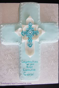 Pretty communion cake for a boy