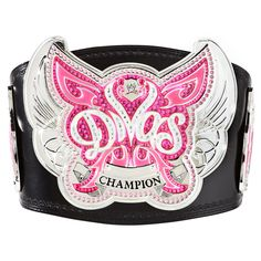 WWE proudly introduces the New WWE Divas Championship Replica Belt! This is the Championship Belt that was introduced to its 1st champion, Michelle McCool, on Smackdown in July of 2008. This highly detailed belt features a Simulated Leather strap with metal plating.