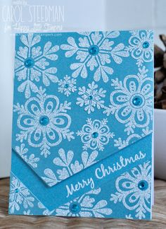 Inky Fingers:  Snowflake Christmas card                                                                                                                                                                                 More