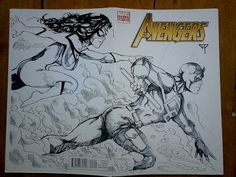 Avengers Blank Cover - Spider-Woman & Daredevil by Guillomcool