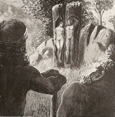 Askr and Embla,  in Norse mythology, the first man and first woman,  were created from tree trunks found on the seashore by three gods—Odin and his two brothers, Vili and Ve