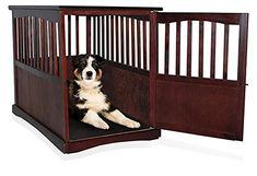 """Wooden Pet Crate Table For Dog's Cat's Espresso Enclosure Cage 36.5"""" x 24"""" wide x 29.25"""" Locking Kennel Enclosure - http://www.thepuppy.org/wooden-pet-crate-table-for-dogs-cats-espresso-enclosure-cage-36-5-x-24-wide-x-29-25-locking-kennel-enclosure/"""