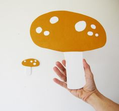 Yellow Mushrooms by HermanMarie on Etsy, $41.00