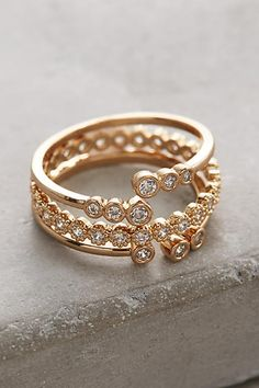 Anthropologie Firefly Circlet Rings