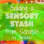 Building a Sensory Stash...from Scratch! Ready to dive into sensory play but not sure where to start? Ideas for building a sensory stash for any budget!