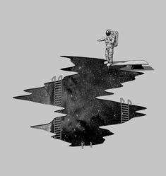 Space Diving Art Print by Nicebleed