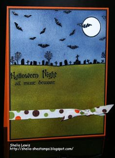 DRS Designs Rubber Stamps: Halloween Night