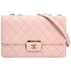 Chanel Pink Sheepskin Flap Bag | From a collection of rare vintage shoulder bags at https://www.1stdibs.com/fashion/handbags-purses-bags/shoulder-bags/