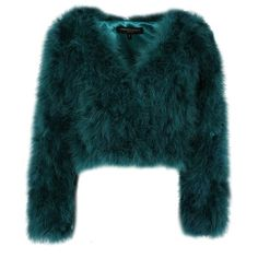 FEATHER Turquoise Green Collarless Jacket Forever Unique ($345) ❤ liked on Polyvore featuring outerwear, jackets, evening jackets, collarless jacket, blue jackets, feather jacket and turquoise jacket