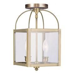 Livex Lighting Milford 2 Light Convertible Foyer Pendant | Wayfair