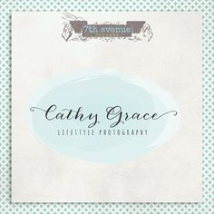 Custom Premade Logo Design  OOAK  Cathy grace by 7thavenuedesigns, $70.00