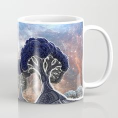 $15.00 Available in 11 and 15 ounce sizes, our premium ceramic coffee mugs feature wrap-around art and large handles for easy gripping. Dishwasher and microwave safe, these cool coffee mugs will be your new favorite way to consume hot or cold beverages. #fractal #fractals #3d #art #space #trees #tree #forest #fantasy #digital #gift #gifts #products