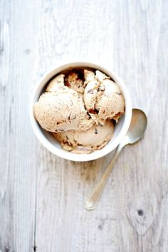 Toasted Marshmallow Ice Cream with Fudge and Graham Swirls by French Press