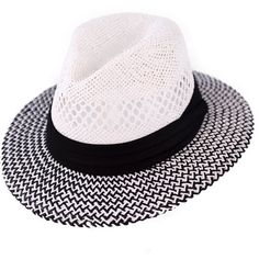 Panama hat (2670 RSD) ❤ liked on Polyvore featuring accessories, hats, wide brim hat, wide hat, paper crown hats, wide fedora hat and brim fedora hat