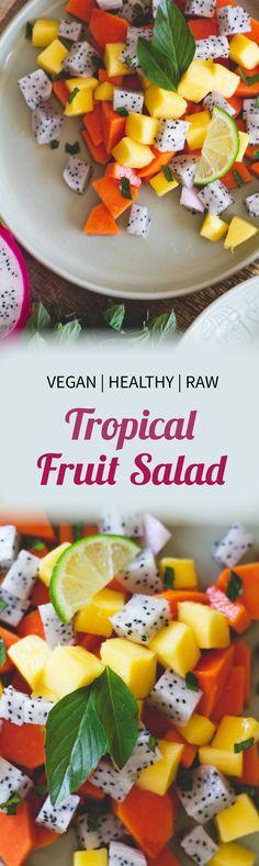 Raw vegan tropical fruit salad recipe