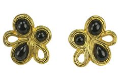 Givenchy Modernist Gripoix Earrings