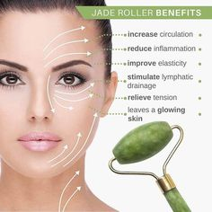 *Jade Roller Natural Anti-Ageing Facial Massager - Body & Mind Yoga *Jade Roller Natural Anti-Ageing Facial Massager - Body & Mind Yoga <br> Try it now, offers ends soon! Improves blood and lymph flow, reduces water retention and improve your skin tone. Natural Beauty Tips, Health And Beauty Tips, Natural Skin Care, Beauty Tricks, Beauty Care, Beauty Skin, Diy Beauty, Massage Facial, Facial Yoga